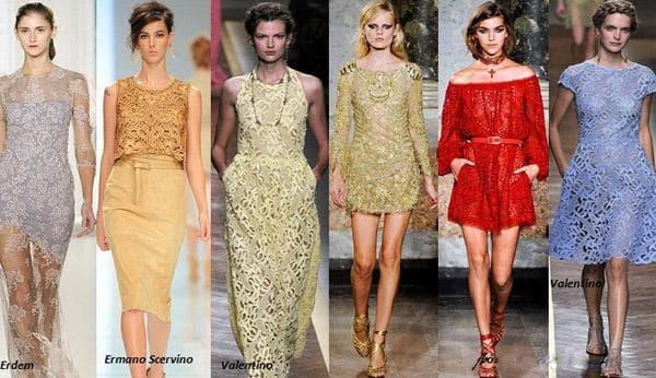 Кружевные платья ярких цветов