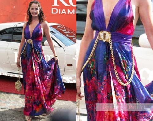 Фото: Валерия Ланская в платье Gizia