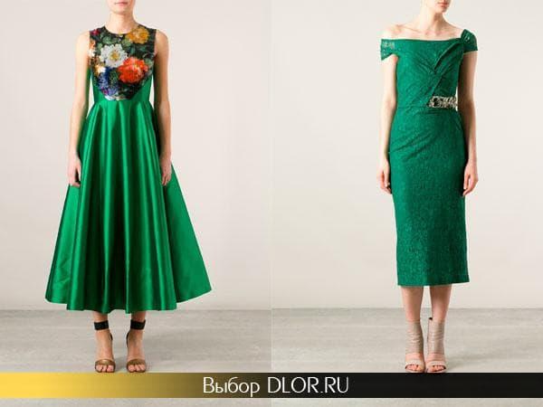 Фото изумрудных платьев в ретро-стиле
