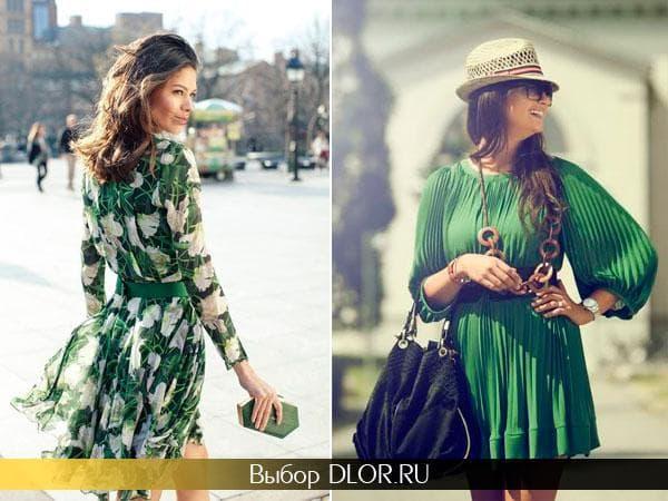 Модные зеленые платья