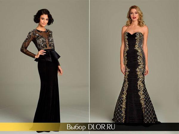 Черные вечерние выпускные платья
