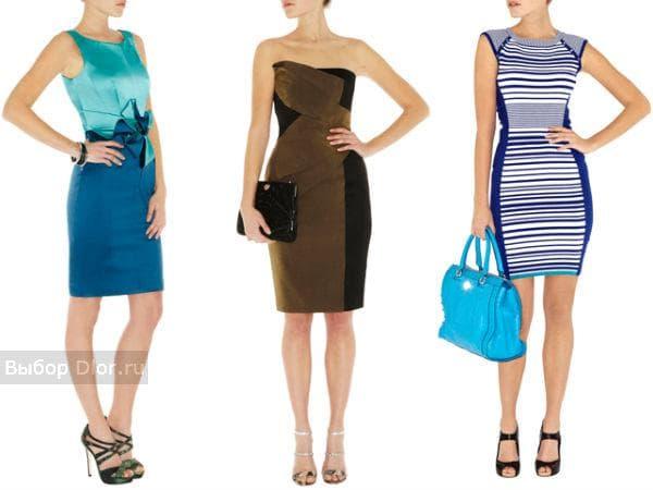Платья двухцветные