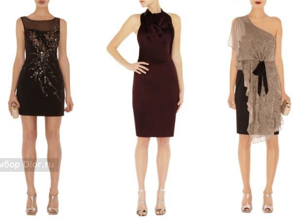 Строгие платья в коричневых и кофейных тонах