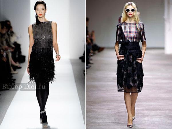 Черные строгие платья средней длины