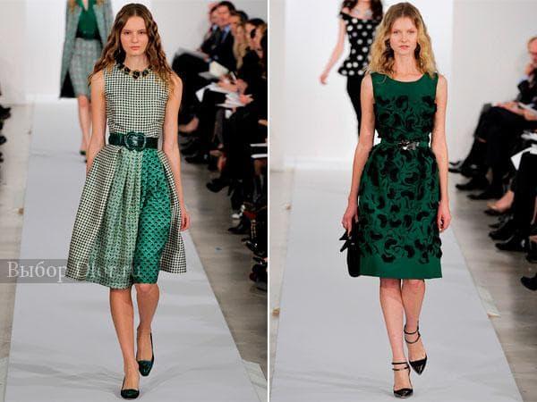 Зеленые платья на свадьбу с пышной юбкой