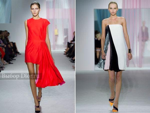Красное и черно-белое платье от Christian Dior