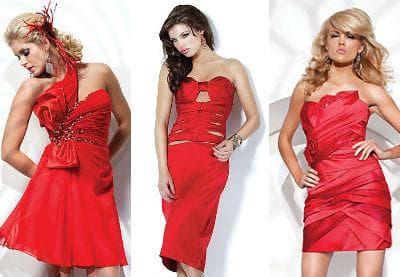 Шикарные красные платья
