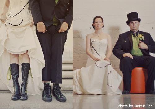 Готические свадебные образы