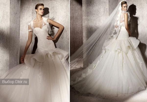 Свадебные платья украшенные кружевными вставками