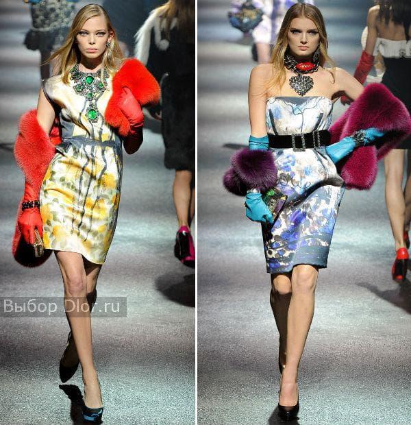 Атласные летние платья с цветочным принтом от Lanvin