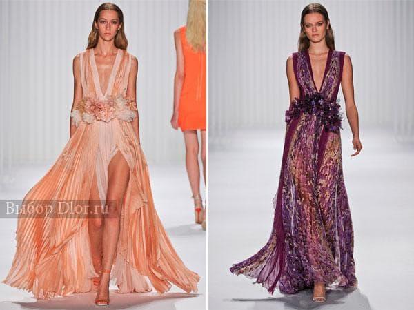 Цветочные длинные платья от J. Mendel