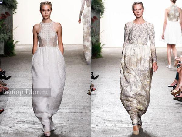 Фото платьев с юбкой-колоколом от Honor 2013