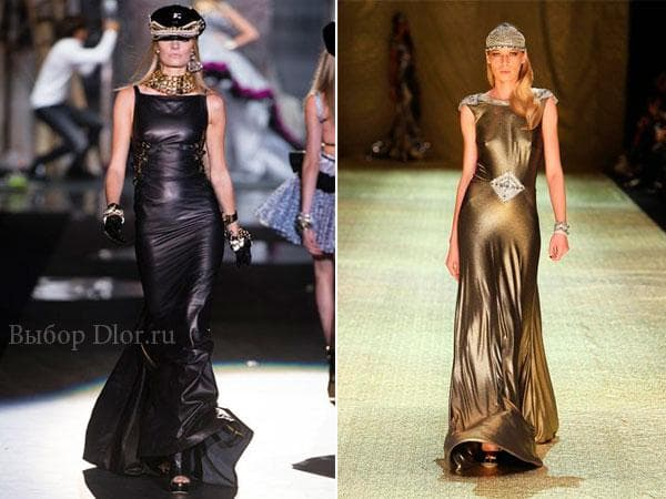Кожаные платья от Dsquared² и Johanna Johnson