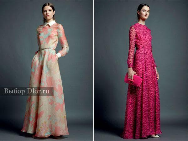 Весенние цвета в зимних моделях платьев