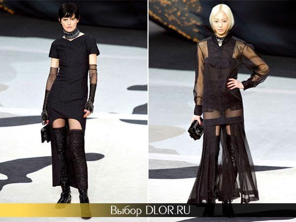 Черные платья от Chanel