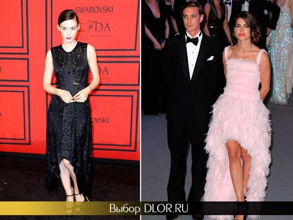 Фото черного и нежно-розового платья