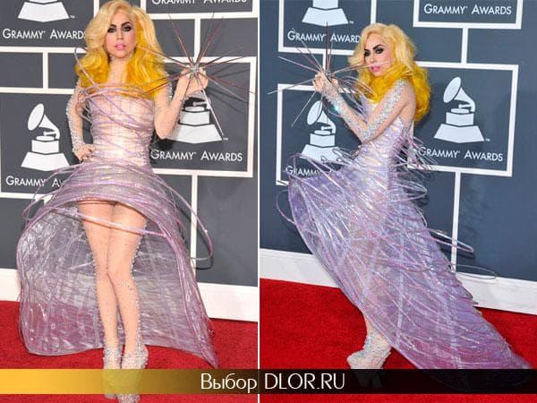 Креативное платье Леди Гагги