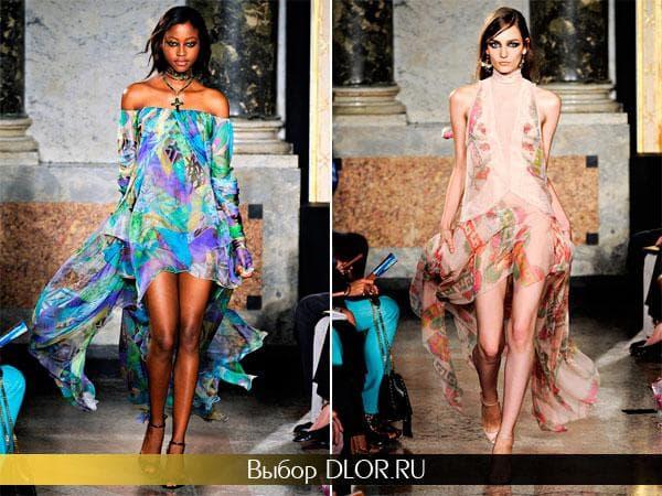 Фото шифоновых платьев Emilio Pucci