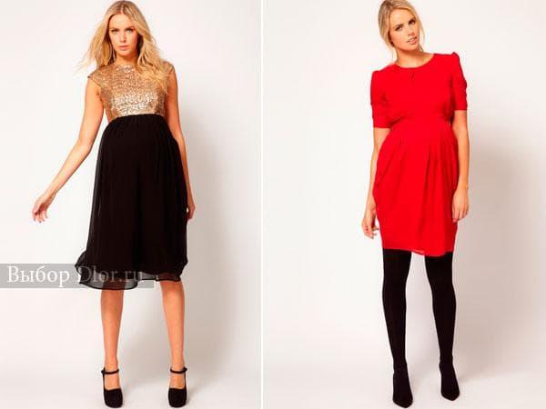 Модные вечерние платья для беременных