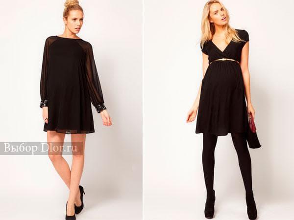 Маленькое черное платья для беременных