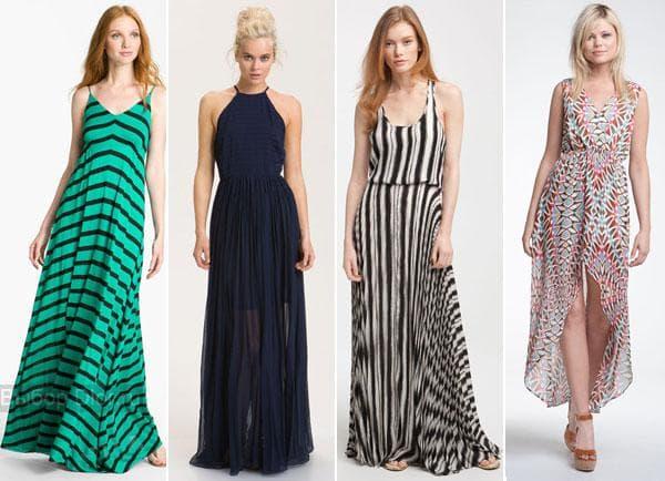 Шифоновые платья и платья в полоску