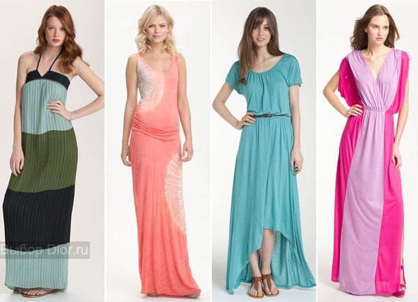Летние платья-макси: плиссе и шифон