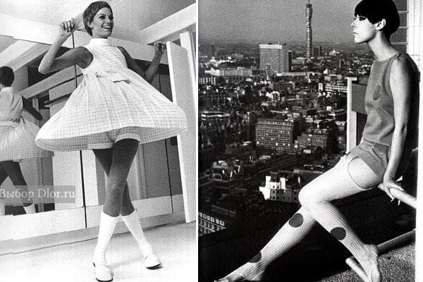 Мини платья 60-х