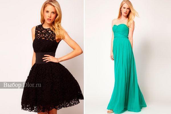 Короткое кружевное платья и длинное бирюзовое