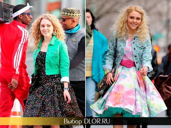 Фото ярких винтажных платьев-пачка
