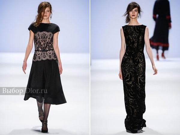 Фото кружевных черных платьев