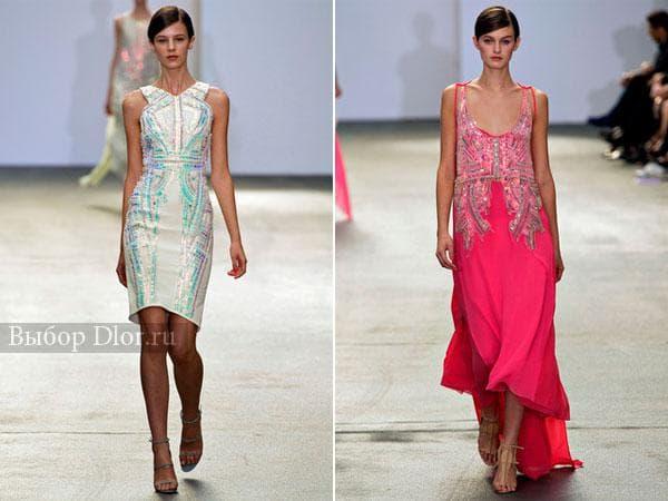 Белое платье-футляр и ярко-розовое от Antonio Berardi