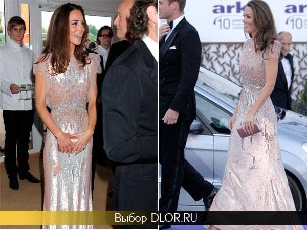 Вечернее платье с блестками Кейт Миддлтон