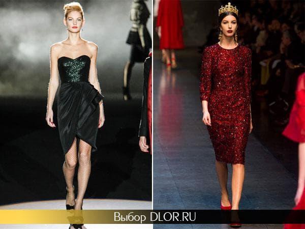 Брендовые новогодние платья черного и красного цвета
