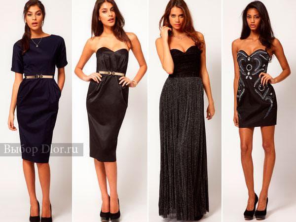 Фото стильные платье в темных цветах