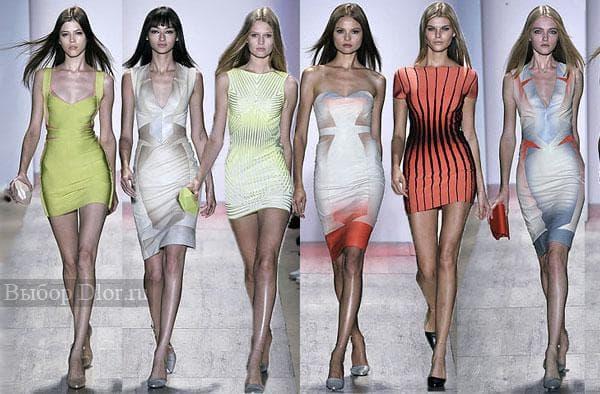 Короткие облегающие платья 2012