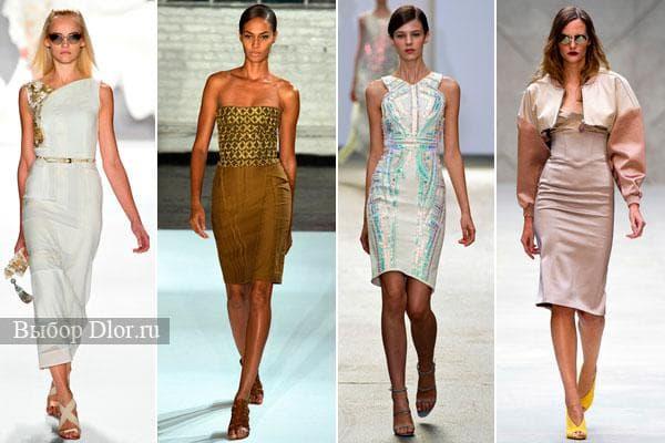 Фото облегающих платьев с подиума 2013