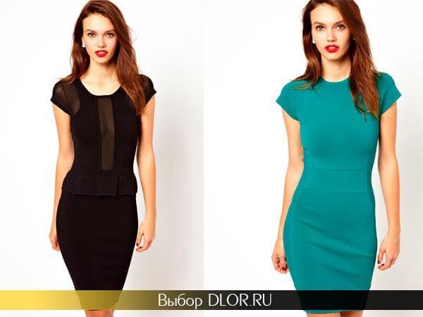 Черное и бирюзовое платье