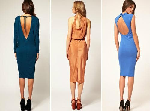 Платья с вырезом-капелькой на спине