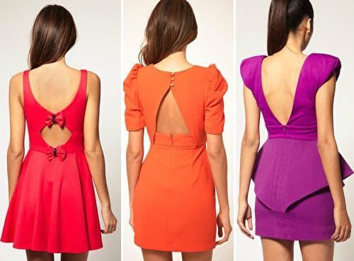 Платье с открытой спиной - для смелых духом