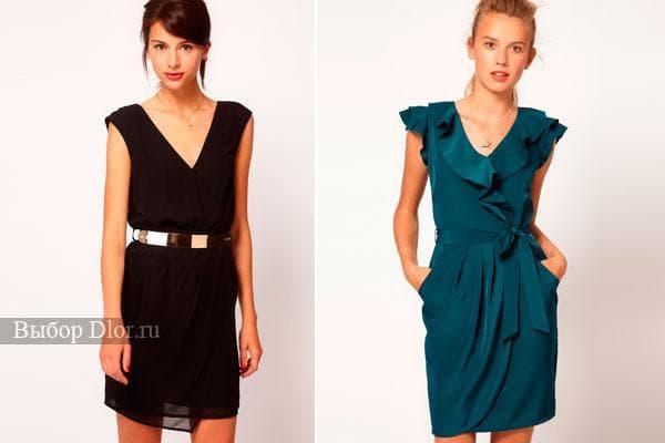 Современные модели платья с запахом 2012