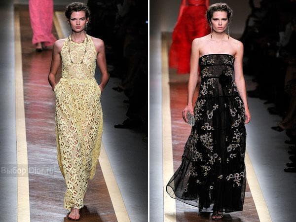 Стильные наряды длиною в пол от Valentino