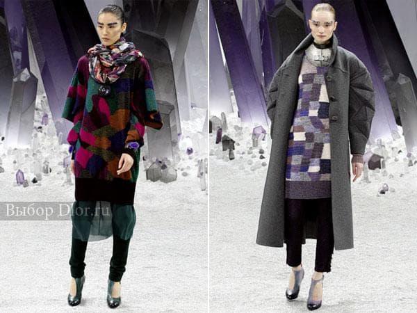 Зимние платья от Chanel средней длины