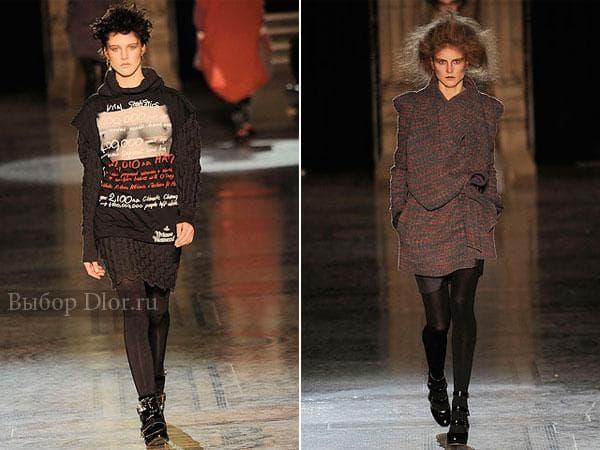 Теплые вязаные платья Vivienne Westwood