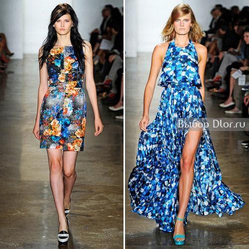 Peter Som и его платья с цветочными принтами
