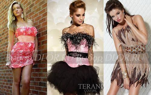 Новогодние коктейльные платья