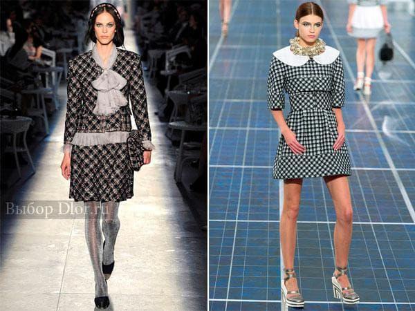 """Фото платьев в """"гусиную лапку"""" от Chanel"""