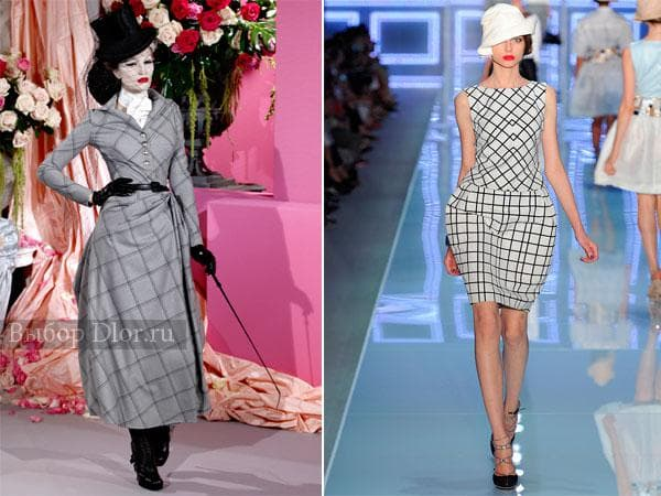 Стильные фасоны платьев от Christian Dior