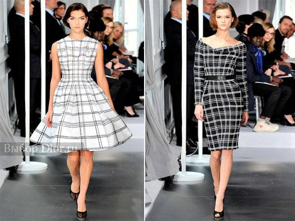 Клетчатые платья от Christian Dior