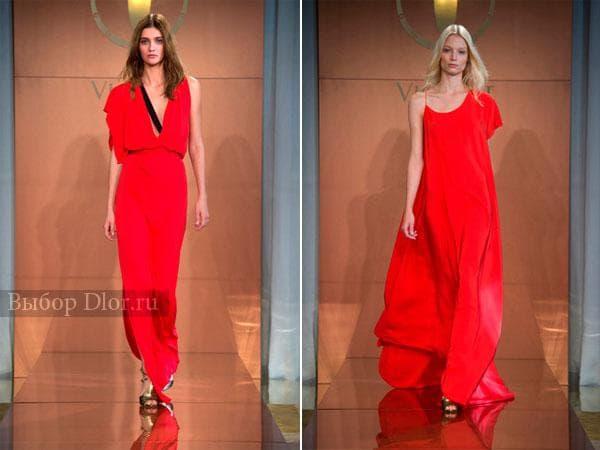 Красные летние платья с тонкими бретелями от Vionnet