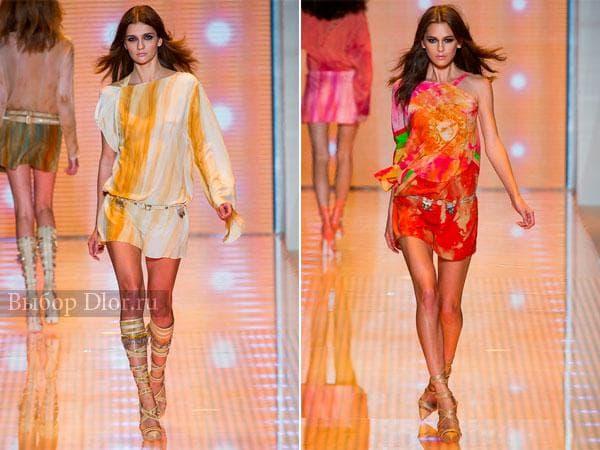 Короткие шифоновые платья от Versace